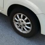写真:ラパンのタイヤ